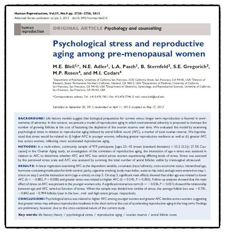 스트레스와임신